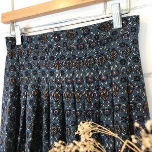 Vintage boho rayon maxi skirt xs
